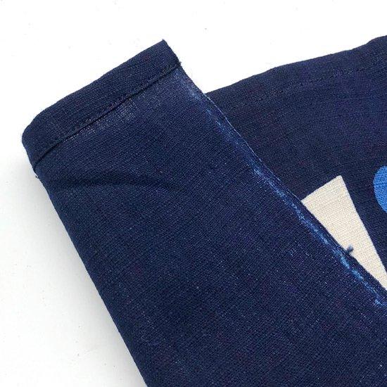 山内染色工房: 柔らかな素材の風呂敷『点と線』/ 紺 x 青