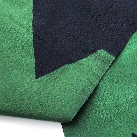 山内染色工房: のれん『M』 / 濃紺 × 緑