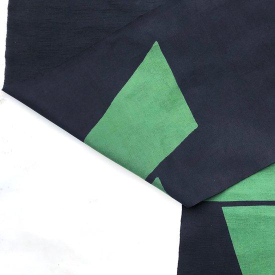 山内染色工房: のれん『A』 / 濃紺 × 緑