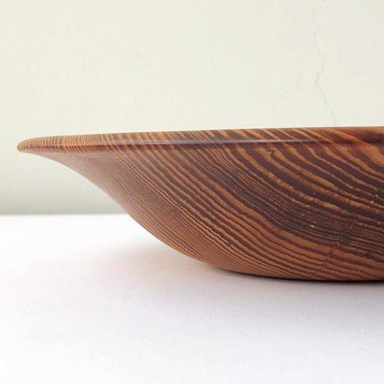 香川県の木工作家 有岡良益(1930-2009) による、貴重な肥松を使用した古いウッドボウル