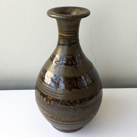 昭和後期の民藝を支えた小鹿田の名工の一人 黒木力さん による花瓶の古作