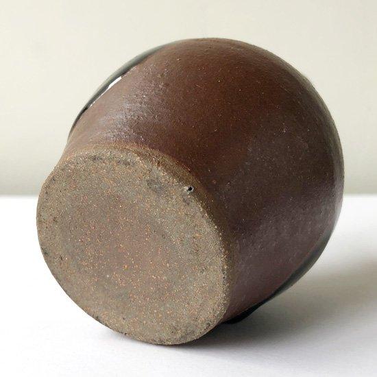 鳥取県の民窯 出西窯 の古い丸紋徳利
