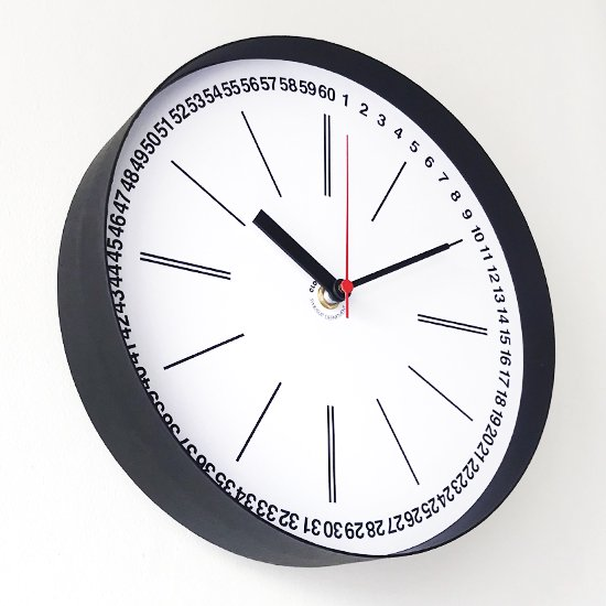 Swimsuit Department Clock Division:Wall Clock 『1 to 60 Black』
