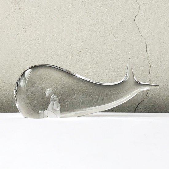 スウェーデンのガラススタジオ Kosta Boda で製造されていたクジラのオブジェ