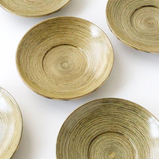 岐阜県飛騨高山の木工芸品 「千巻」の古い茶托の5枚組