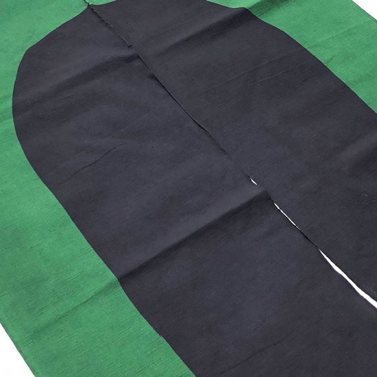 山内染色工房: のれん『楕円』/ 緑 × 濃紺