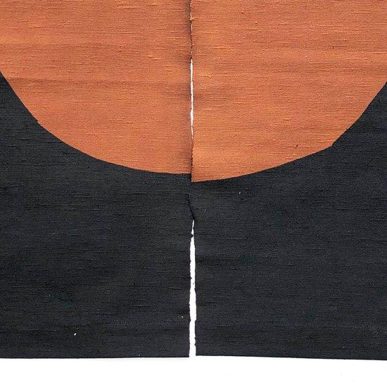 山内染色工房: のれん『楕円』/ 濃紺 × 茶