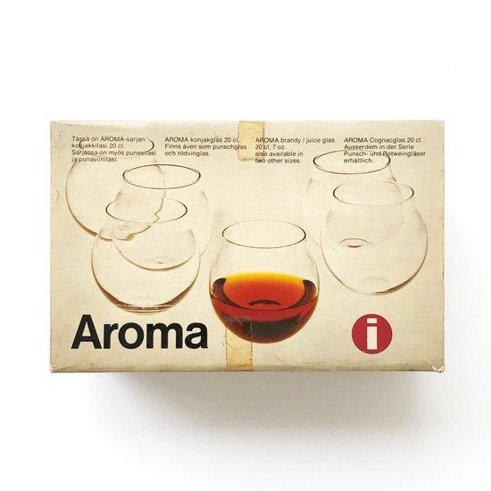 フィンランドのデザイナー Timo Sarpaneva が1956年にデザインをしたグラス「Aroma」のブランデーグラス