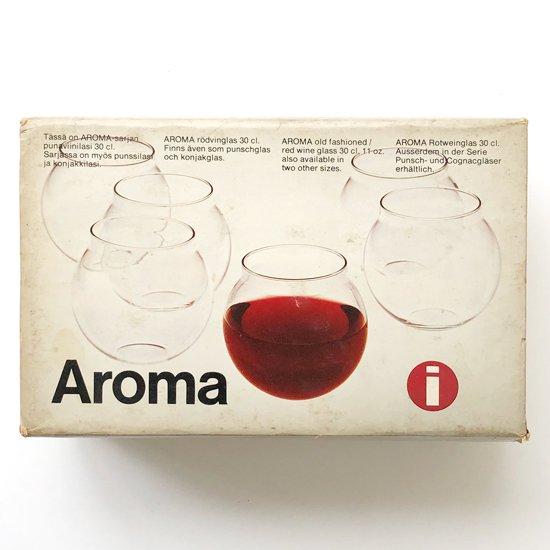 フィンランドのデザイナー Timo Sarpaneva が1956年にデザインをしたグラス「Aroma」の赤ワイングラス