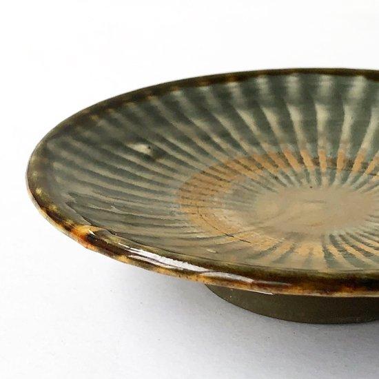 大分県 の民窯 小鹿田焼 の古い小皿