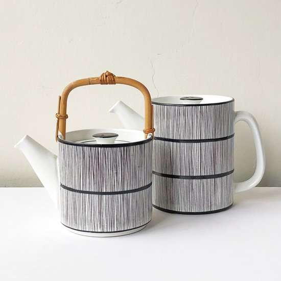 Vintage Ceramic:  Fajans 2 piece Teapot / Stig Lindberg