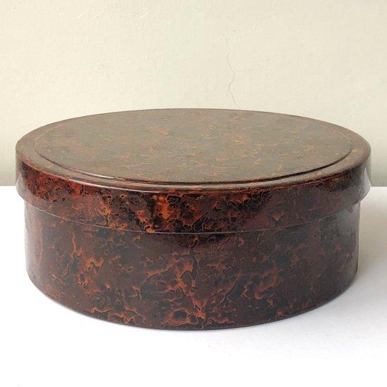 青森県の伝統工芸 津軽塗 による古い茶櫃(ちゃびつ)