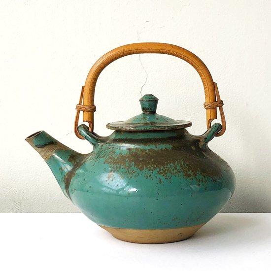 青釉の美しい、小鹿田焼の古い土瓶
