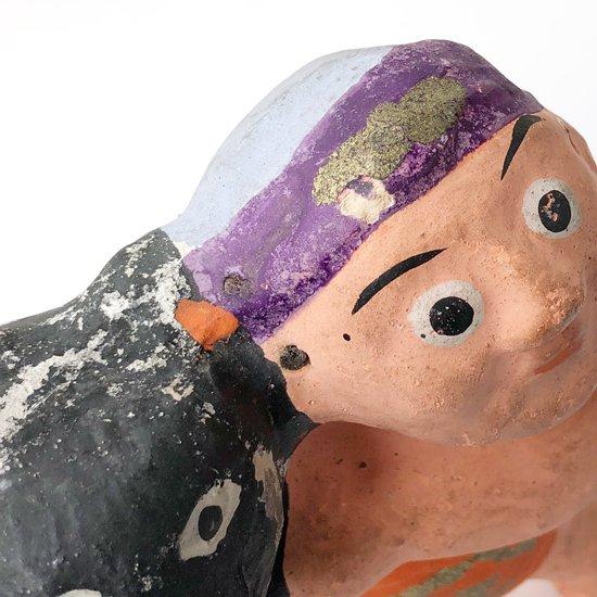 山形県の郷土玩具 鶴岡瓦人形 の戦前に作られた「熊金」