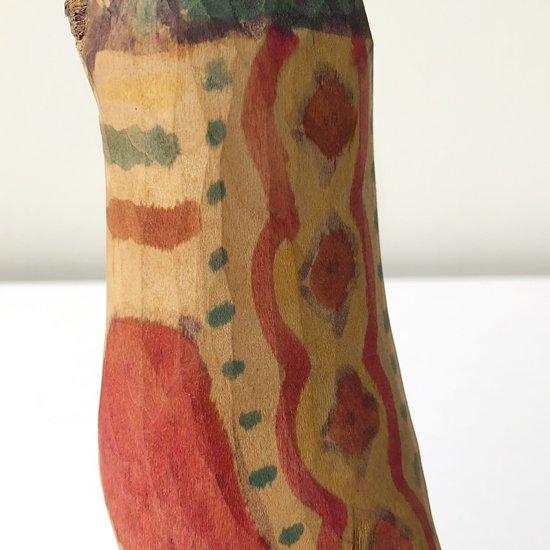 ワンカイヨの古い木彫りの鳥