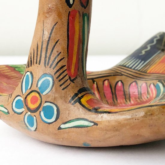 メキシコにあるゲレロという地域で1980年代に作られた、陶器の鳥型のトレー