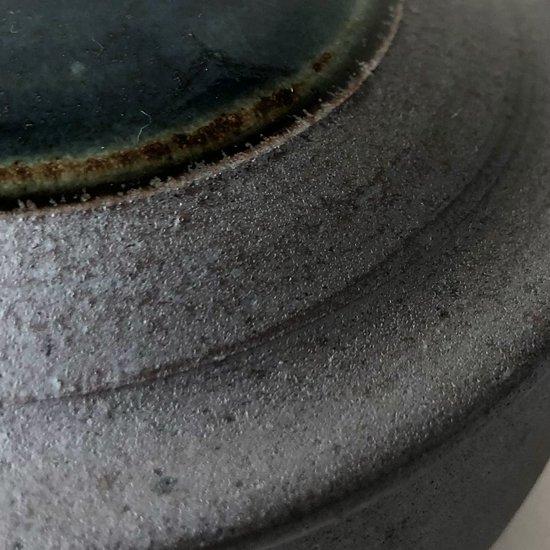 島根県の民窯 出西窯 の古い蓋物