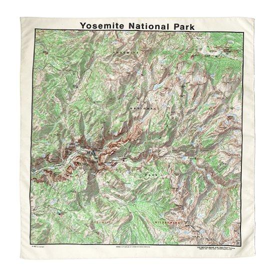 THE PRINTED IMAGE:マップバンダナ「Yosemite National Park」