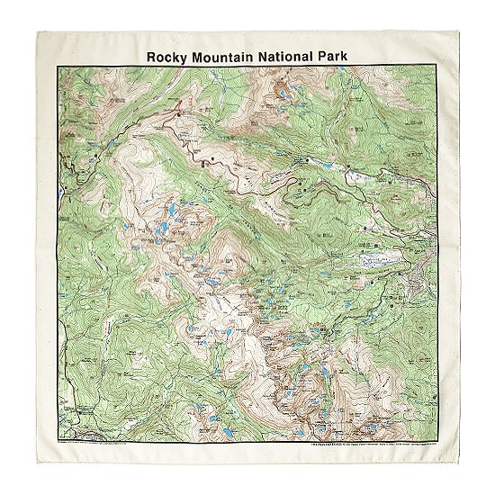 THE PRINTED IMAGE:マップバンダナ「Rocky Mountain National Park」