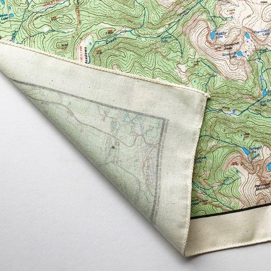 THE PRINTED IMAGE:マップバンダナ「Rocky Mountain National Park」