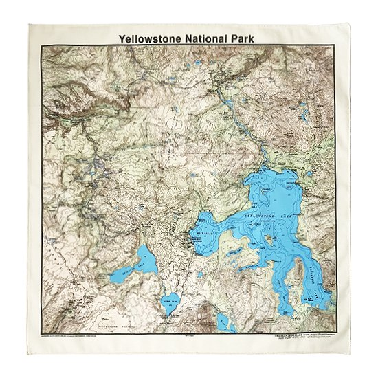 THE PRINTED IMAGE:マップバンダナ「Yellowstone National Park」