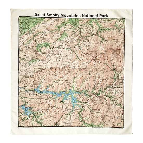 THE PRINTED IMAGE:マップバンダナ「Great Smoky Mountains National Park」