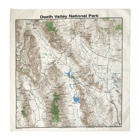 THE PRINTED IMAGE:マップバンダナ「Death Valley National Park」