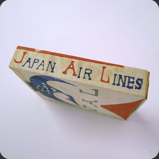ヴィンテージアイテム:芹沢けい介図案、JALのノベルティのマッチ
