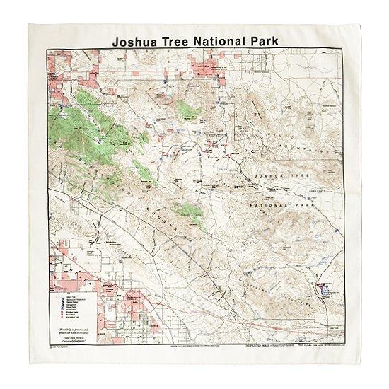 THE PRINTED IMAGE:マップバンダナ「Joshua Tree National Park」