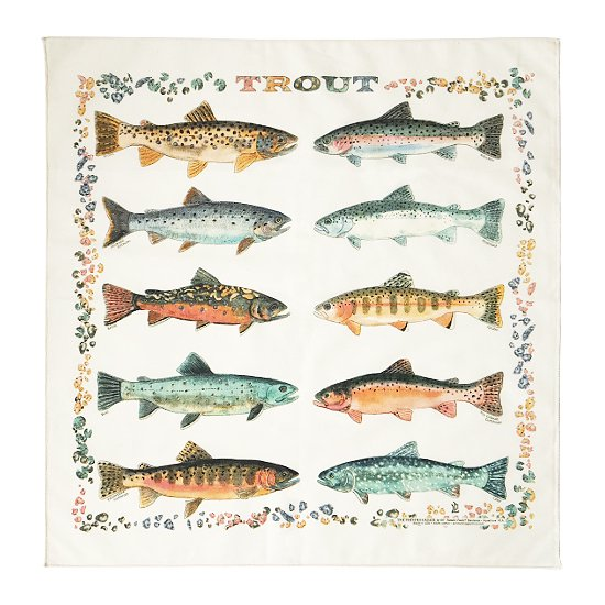 THE PRINTED IMAGE:バンダナ「Trout」