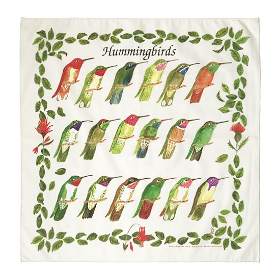 THE PRINTED IMAGE:バンダナ「Humming Birds」