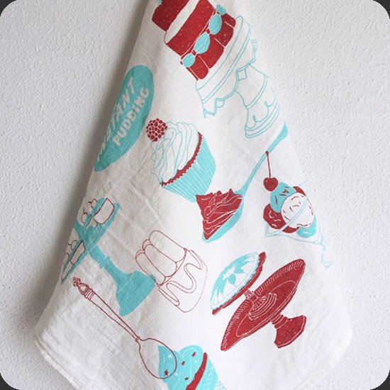 Claudia Pearson : Jelly And Cake Tea Towel