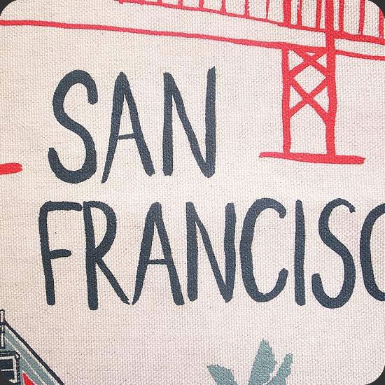 サンフランシスコをテーマにしたイラスト