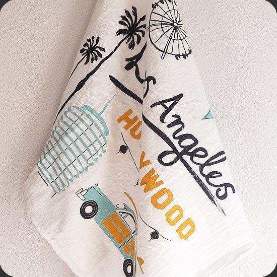 Claudia Pearson : Los Angeles Tea Towel