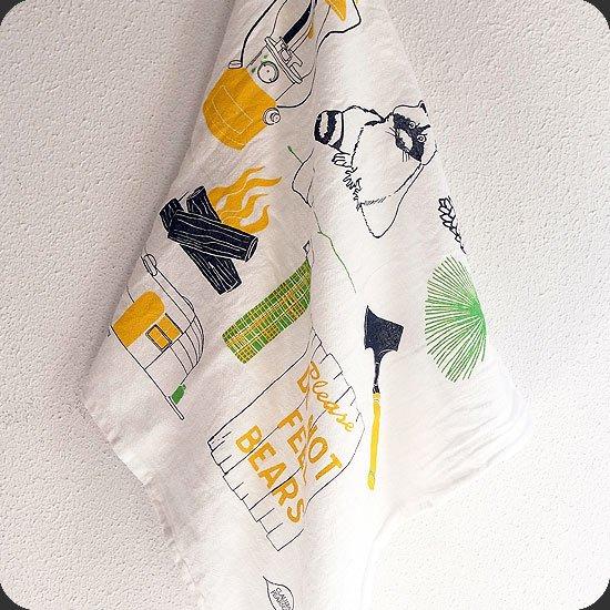 Claudia Pearson : Camping Tea Tea Towel