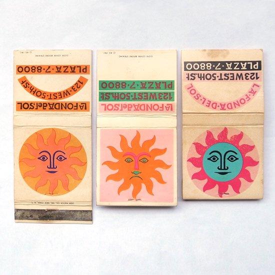 ヴィンテージ アイテム:アレキサンダー・ジラルドがLa Fonda Del Solのためにデザインをしたマッチブックのカバーです