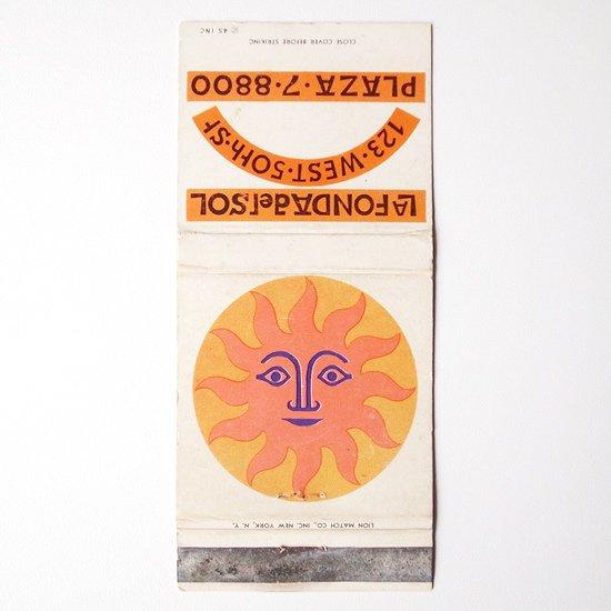 A:ヴィンテージ アイテム:アレキサンダー・ジラルドがLa Fonda Del Solのためにデザインをしたマッチブックのカバーです