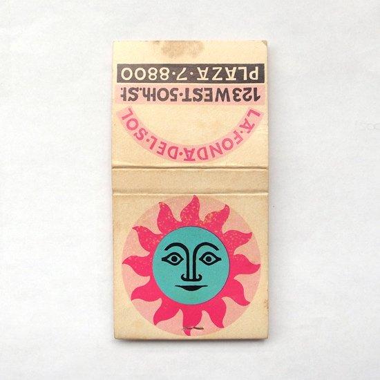 C:ヴィンテージ アイテム:アレキサンダー・ジラルドがLa Fonda Del Solのためにデザインをしたマッチブックのカバーです
