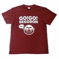 【新型コロナウィルス募金・基金に寄付します】【GO!GO! SEGODON】 限定 ごわす Tシャツ さつま芋バーガンディー 【西郷どん・ゆるキャラ・グッズ】