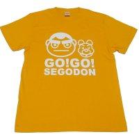 【GO!GO! SEGODON】 限定 西郷どん & つん Tシャツ ボンタンゴールド 【西郷どん・ゆるキャラ・グッズ】