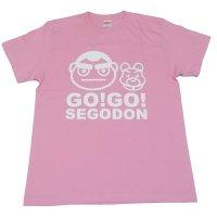 【GO!GO! SEGODON】 限定 西郷どん & つん Tシャツ おごじょピンク 【西郷どん・ゆるキャラ・グッズ】