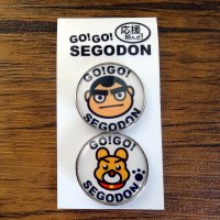 【新型コロナウィルス募金・基金に寄付します】【GO!GO! SEGODON】 ピンバッチ 2個セット No,4 西郷どん・愛犬つん  【西郷どん・ゆるキャラ・グッズ】