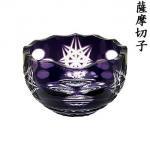 小付鉢(花ぼかし・紫色) 【薩摩切子/鹿児島/ツジガラス工芸】