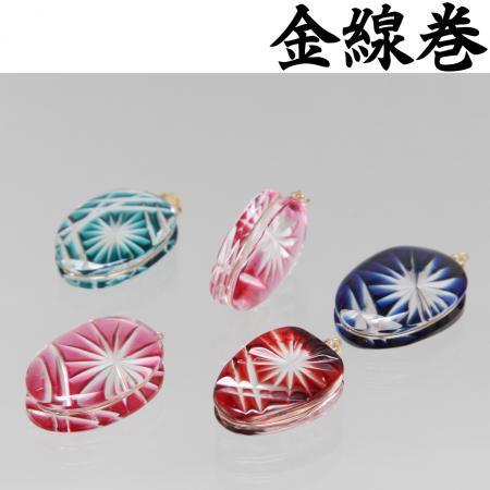 【金線巻】 ペンダント(ドロップ) 【薩摩切子/鹿児島/ツジガラス工芸】