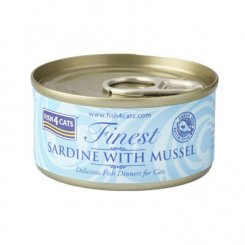 <font color=#ff0000>NEW</font> 猫缶 イワシ&緑イ貝 SARDINE WITH MUSSEL 70g
