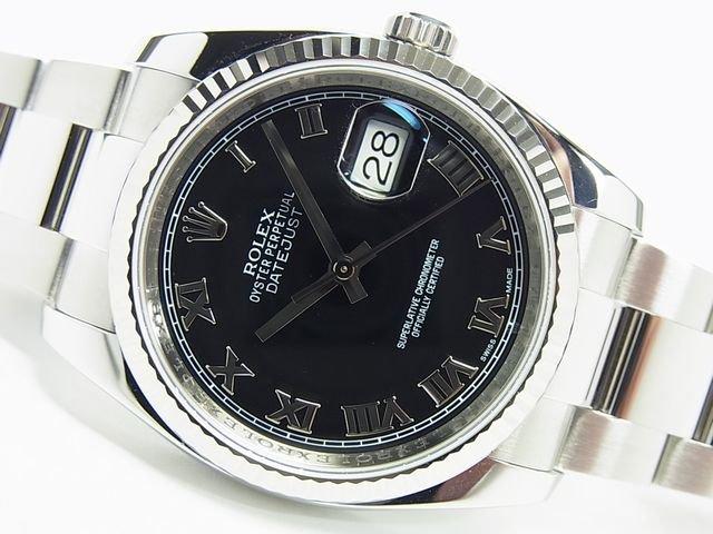 sale retailer 63c53 29016 ロレックス デイトジャスト 黒ローマ 116234 G番 正規 - 腕時計専門店THE-TICKEN(ティッケン) オンラインショップ