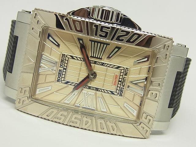 ロジェ・デュブイ シーモア 18KWGベゼル シャンパン文字盤