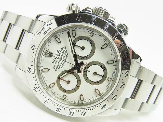 lowest price 36ceb f9c07 ロレックス デイトナ ステンレス 白 116520 ランダム番 - 腕時計専門店THE-TICKEN(ティッケン) オンラインショップ
