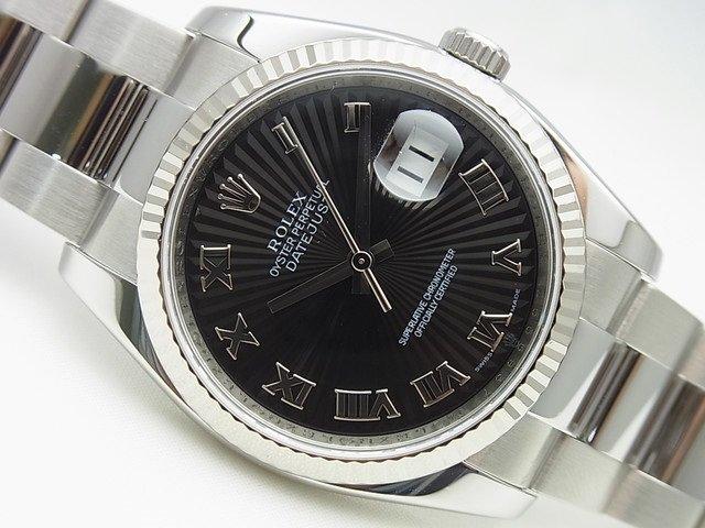 finest selection 70a9b f2f0f ロレックス デイトジャスト 116234 黒サンビーム オイスターブレス - 腕時計専門店THE-TICKEN(ティッケン) オンラインショップ