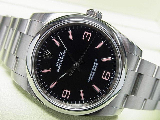 ロレックス オイスターパーペチュアル 116000 黒369・ピンク